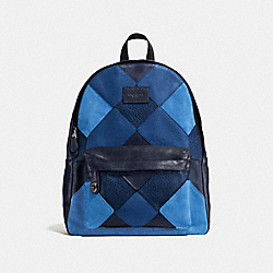COACH F57758 Campus Backpack BLUE MULTI/BLACK ANTIQUE NICKEL