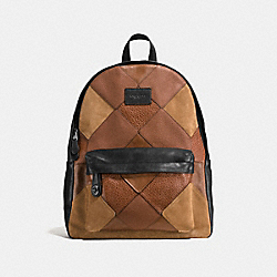 COACH F57758 Campus Backpack DARK SADDLE MULTI/BLACK ANTIQUE NICKEL