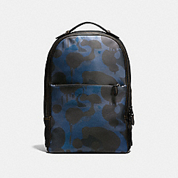 METROPOLITAN SOFT BACKPACK WITH WILD BEAST PRINT - F57762 - DENIM WILD BEAST/BLACK ANTIQUE NICKEL