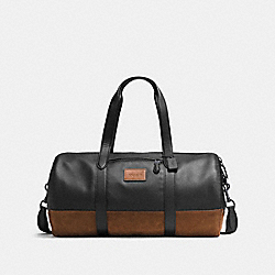 COACH F57767 Rip And Repair Metropolitan Soft Gym Bag BLACK/MAHOGANY/BLACK