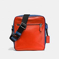 COACH F57771 Metropolitan Flight Bag In Colorblock TERRACOTA/INDIGO/BLACK ANTIQUE NICKEL