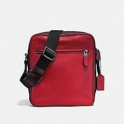 COACH F57771 - METROPOLITAN FLIGHT BAG IN COLORBLOCK OXBLOOD/CHERRY/BLACK ANTIQUE NICKEL