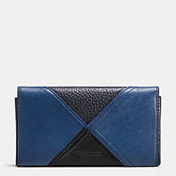 COACH F57793 Universal Phone Case In Patchwork Leather INDIGO
