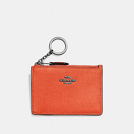 COACH F57841 MINI SKINNY ID CASE MANDARIN/DARK-GUNMETAL