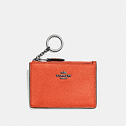 COACH F57841 - MINI SKINNY ID CASE MANDARIN/DARK GUNMETAL