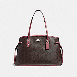 COACH F57842 Drawstring Carryall LIGHT GOLD/BROWN ROUGE