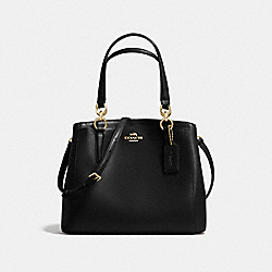 MINETTA CROSSBODY IN CROSSGRAIN LEATHER - f57847 - LIGHT GOLD/BLACK