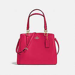 MINETTA CROSSBODY IN CROSSGRAIN LEATHER - f57847 - IMITATION GOLD/BRIGHT PINK