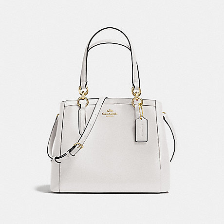 COACH f57847 MINETTA CROSSBODY IN CROSSGRAIN LEATHER LIGHT GOLD/CHALK