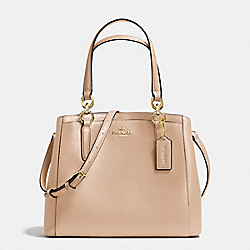 MINETTA CROSSBODY IN CROSSGRAIN LEATHER - f57847 - LIGHT GOLD/BEECHWOOD