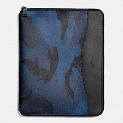 COACH F57853 Tech Case In Indigo Camo INDIGO CAMO