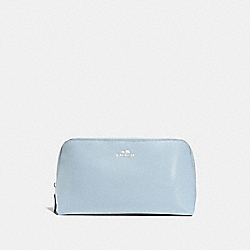 COACH F57856 Cosmetic Case 22 SILVER/PALE BLUE