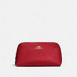 COACH F57857 Cosmetic Case 17 LIGHT GOLD/TRUE RED