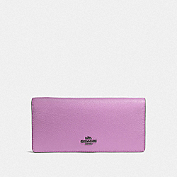 COACH F57873 Slim Wallet LILY/DARK GUNMETAL
