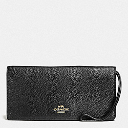 COACH F57873 - SLIM WALLET LI/BLACK