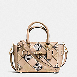 COACH F57893 Mini Blake Carryall In Snake Embossed Patchwork Leather IMITATION GOLD/BEECHWOOD MULTI