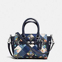 MINI BLAKE CARRYALL IN DENIM PATCHWORK - f57898 - SILVER/MIDNIGHT MULTI