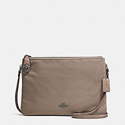 NYLON CROSSBODY - f57899 - ANTIQUE SILVER/FOG