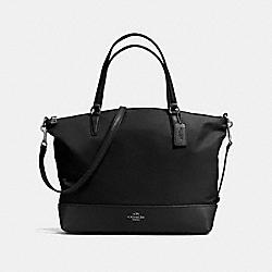 NYLON SATCHEL - f57902 - ANTIQUE NICKEL/BLACK