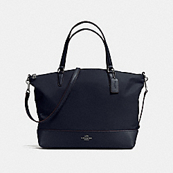 NYLON SATCHEL - f57902 - ANTIQUE NICKEL/MIDNIGHT