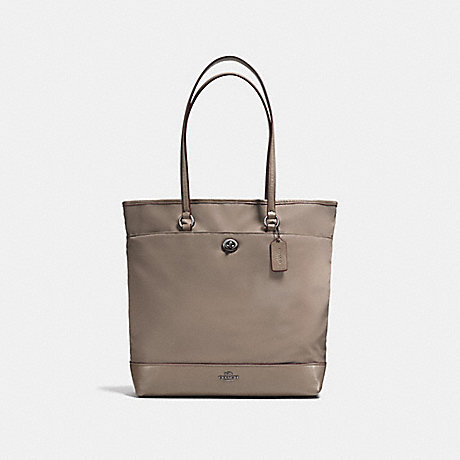 COACH f57903 NYLON TOTE ANTIQUE SILVER/FOG