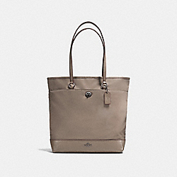 NYLON TOTE - f57903 - ANTIQUE SILVER/FOG