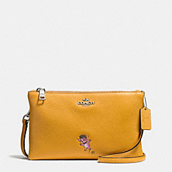 BASEMAN X COACH BUDDY BOY LYLA CROSSBODY IN PEBBLE LEATHER - f57914 - SILVER/MUSTARD