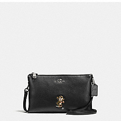COACH F57915 - BASEMAN X COACH BUSTER LYLA CROSSBODY IN PEBBLE LEATHER ANTIQUE NICKEL/BLACK