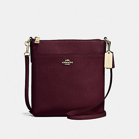 COACH F57954 KITT MESSENGER CROSSBODY LI/OXBLOOD
