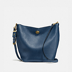 DUFFLE SHOULDER BAG - f58019 - DARK DENIM/OLD BRASS