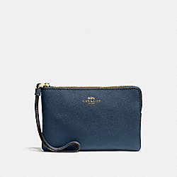 CORNER ZIP WRISTLET - F58032 - DENIM/LIGHT GOLD