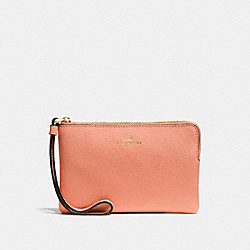 COACH F58032 Corner Zip Wristlet SUNRISE/LIGHT GOLD