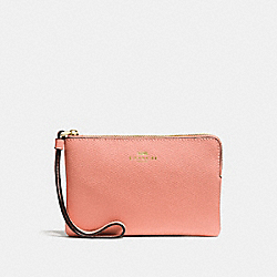 COACH F58032 Corner Zip Wristlet MELON/LIGHT GOLD