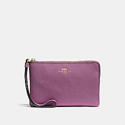 COACH F58032 Corner Zip Wristlet PRIMROSE/LIGHT GOLD