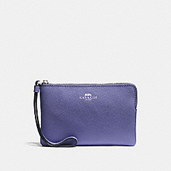 COACH F58032 Corner Zip Wristlet LIGHT PURPLE/SILVER