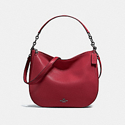 COACH F58036 Chelsea Hobo 32 CHERRY/DARK GUNMETAL