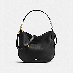 COACH F58036 - CHELSEA HOBO 32 BLACK/LIGHT GOLD