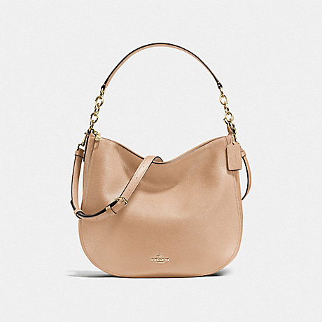 COACH f58036 CHELSEA HOBO 32 BEECHWOOD/LIGHT GOLD