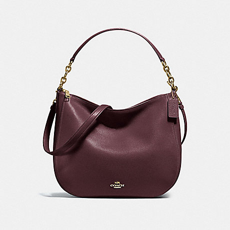 COACH F58036 CHELSEA HOBO 32 OXBLOOD/LIGHT-GOLD