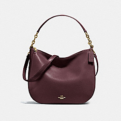 CHELSEA HOBO 32 - F58036 - OXBLOOD/LIGHT GOLD