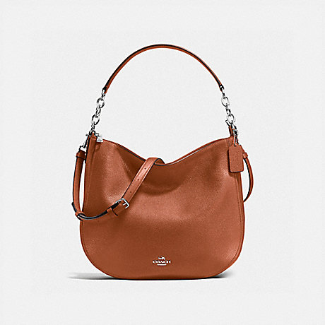 COACH f58036 CHELSEA HOBO 32 SILVER/SADDLE