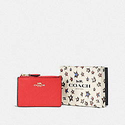 COACH F58037 Boxed Mini Skinny Id Case LI/DEEP CORAL