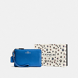 COACH F58038 Boxed Small Wristlet SV/LAPIS