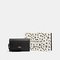 COACH F58039 - BOXED PHONE CLUTCH LI/BLACK