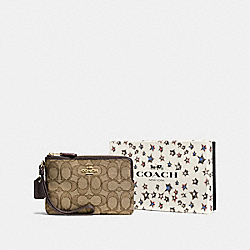 COACH F58041 - BOXED SMALL WRISTLET IN SIGNATURE JACQUARD LI/KHAKI/BROWN