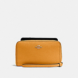 COACH F58053 Phone Wallet GOLDENROD/LIGHT GOLD