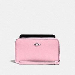 COACH F58053 Phone Wallet SILVER/BLUSH 2