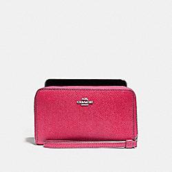 COACH F58053 Phone Wallet SILVER/MAGENTA