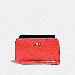 COACH F58053 Phone Wallet SILVER/WATERMELON