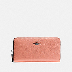 COACH F58059 Accordion Zip Wallet MELON/DARK GUNMETAL